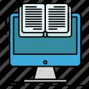 book, computer, cv, document, file icon