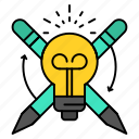 bulb, focus, light, success icon
