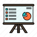 analytics, business, chart, graph, marketing, presentation, report icon