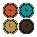 business, clock, clocks, office, time, wall, world, zone icon