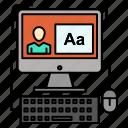 computer, editing, screen, software