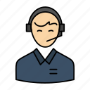 business, consultant, consulting, customer, man, online, service, support icon
