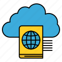 cloud, folder, reading, upload icon