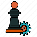 business, chess, strategy, success icon