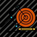 focus, goal, success, target icon