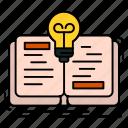 book, idea, novel, story icon