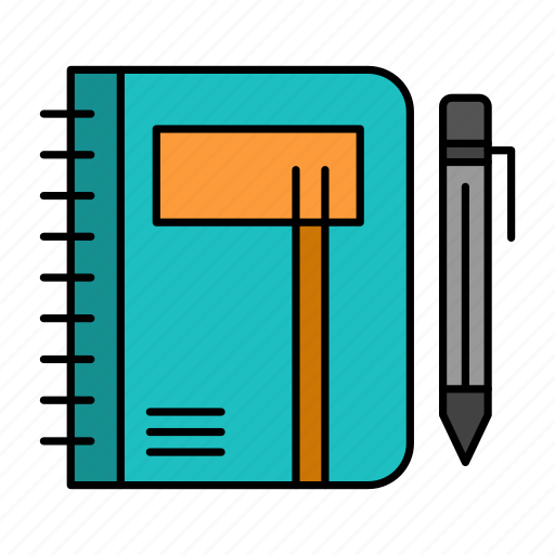 business, note, notepad, pad, pen, sketch, workbook icon