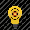 bulb, business, focus, success
