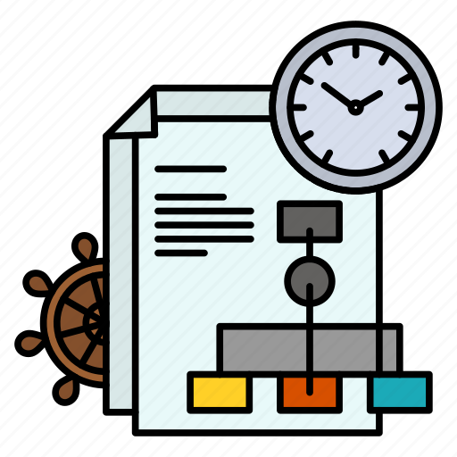 business, file, report, time icon