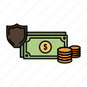 business, coins, dollar, finance, gold, money, payment icon