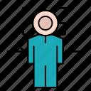 achieve, focus, goal, man, target icon