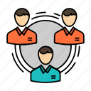 business, communication, hierarchy, people, social, structure, team icon