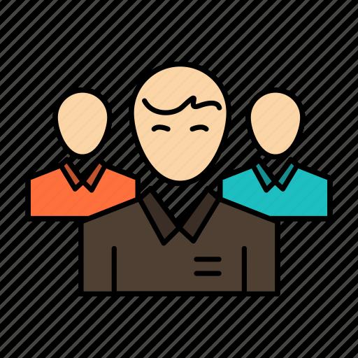 business, ceo, executive, leader, leadership, person, team icon