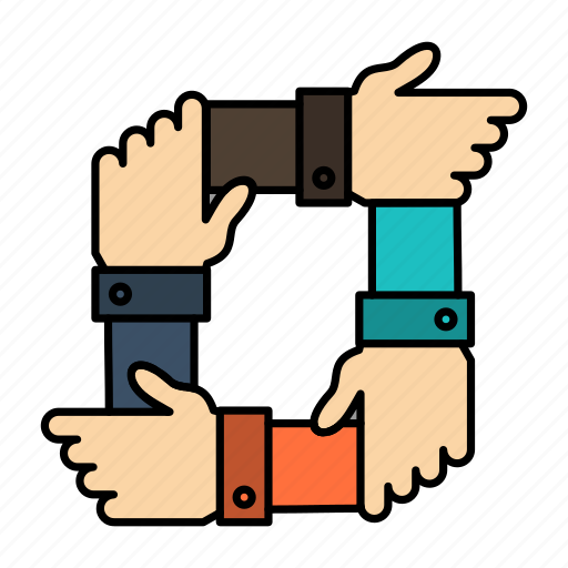 business, collaboration, hands, partnership, team, teamwork icon