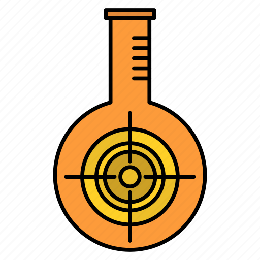 Chemical, flask, lab, reaction, target icon - Download on Iconfinder