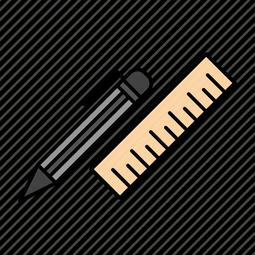 Desk, organizer, pen, pencil, ruler, supplies icon - Download on Iconfinder
