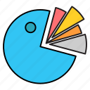 chart, diagram, pie, presentation icon