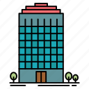 building, office, space, tower icon