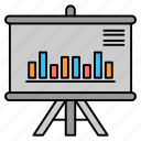 business, graph, presentation, project icon