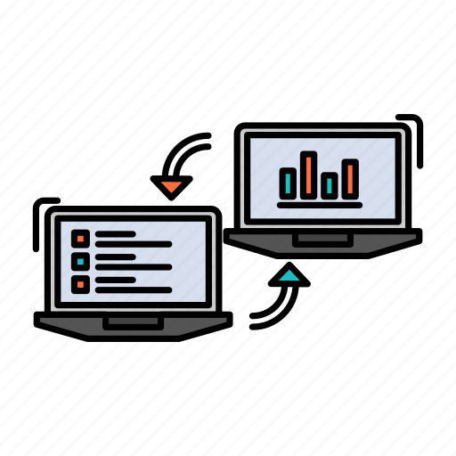 business, competers, connection, data, exchange, information icon