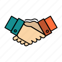 agreement, business, hands, handshake, partners, partnership icon