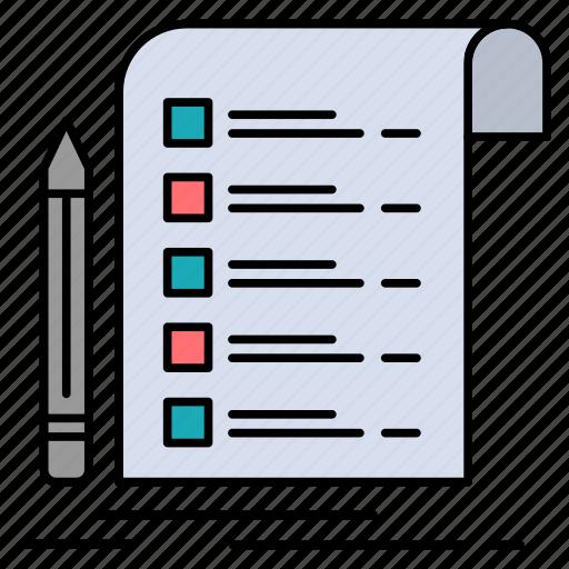 card, checklist, file, invoice, report icon