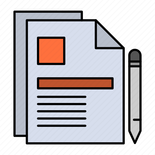 business, contract, document, legal, sign icon