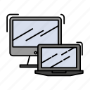 business, computer, laptop, macbook, technology icon