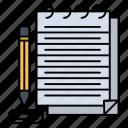 notebook, notepad, novel, pad icon