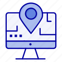 computer, education, location, map icon