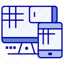 cell, computer, education, monitor icon