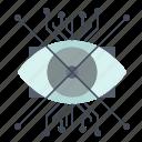ar, augmentation, cyber, eye, lens icon