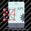 api, application, coding, development, mobile icon