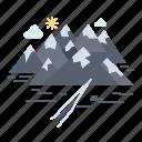 crack, hill, landscape, mountain, rocks