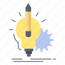 idea, insight, key, lamp, lightbulb icon