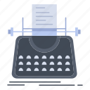 article, blog, story, typewriter, writer icon