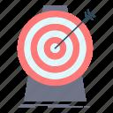 aim, focus, goal, target, targeting