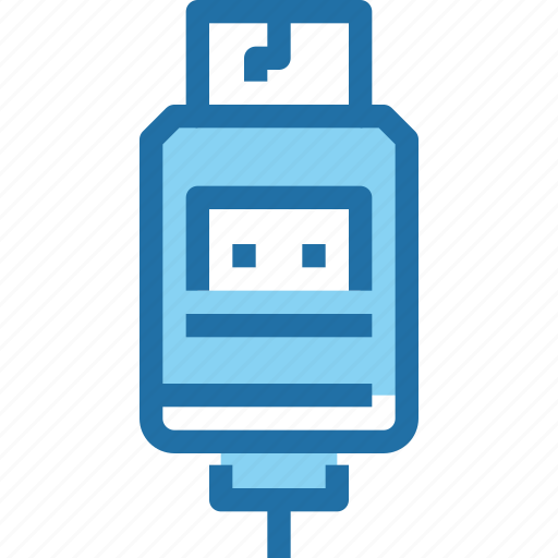computer, connector, device, hardware, technology, usb icon