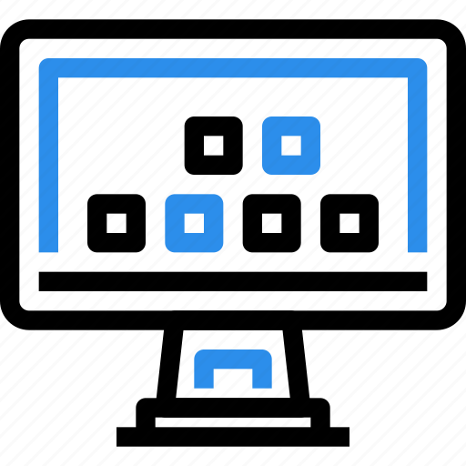 computer, device, display, hardware, smart, technology, tv icon