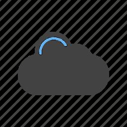 businessman, cloud, computing, concept, technology icon