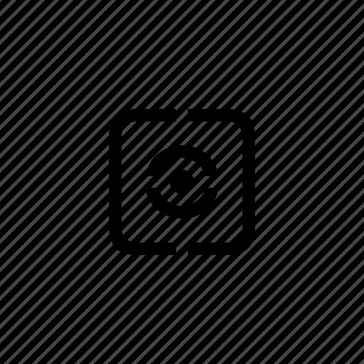 camera, device, evaluative, option icon