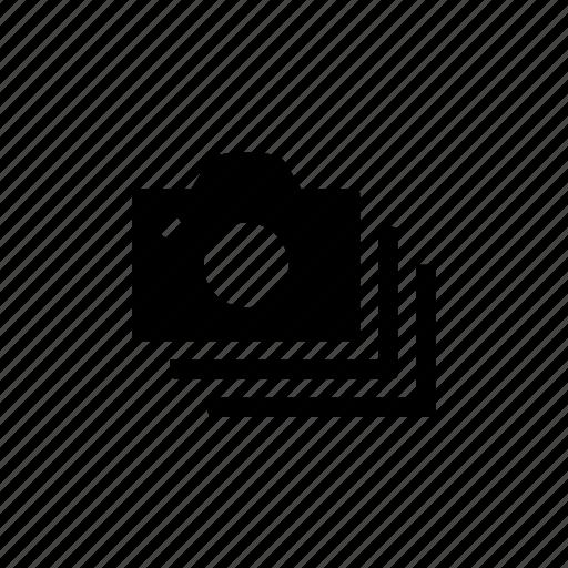 camera, device, option, stack icon