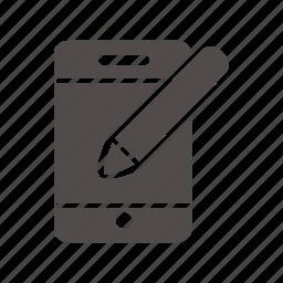 document, editing, file, folder, pencil, write, written icon