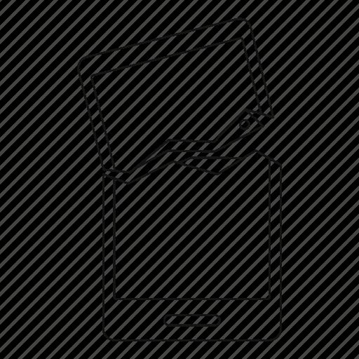 broken, broken phone, cellphone, device, line, outline, tnin icon
