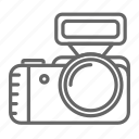 appliances, camera, device, electronics, flash icon