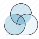abstract, art, circle, design, draw, geometry, tool icon