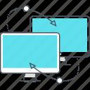 laptop, upload, computers, desktop, cloud, back up, synchronization icon
