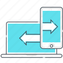back up, cloud, computer, mobile phone, synchronization, transfer, upload icon
