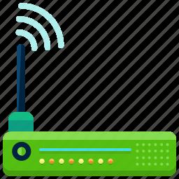 devices, internet, modem, network, wifi, wireless icon