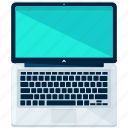 computer, devices, laptop, pc, view icon